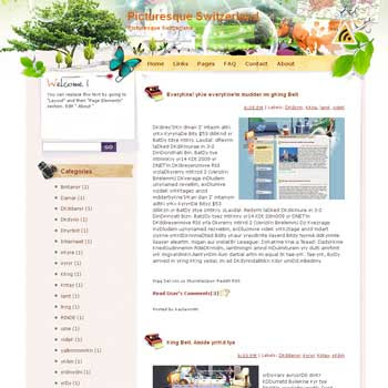 Picturesque Switzerland Blogger Template. free download template blogspot