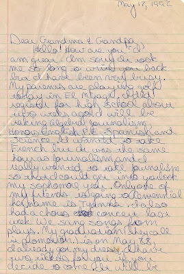 Uibles A Family Blog 1992 Wendys Letter To Her Uible