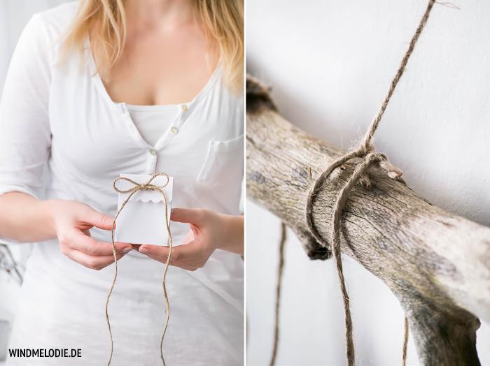 DIY Adventskalender Ast skandinavisch selber machen basteln