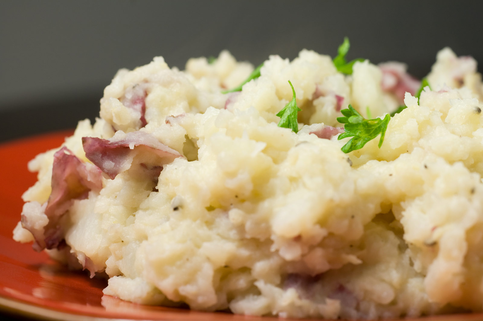 Use red skinned potatoes but don't mash until creamy, leave a little ...