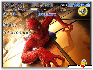 Tema BlackBerry 8520 Spiderman Download Tema BlackBerry 8520 Gratis 2012