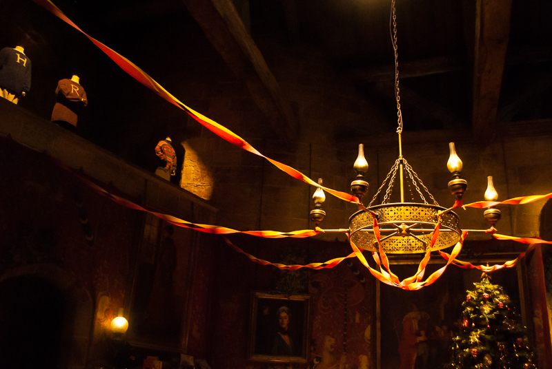 Chandelier in Gryffindor common room Harry Potter Studios, Engalnd