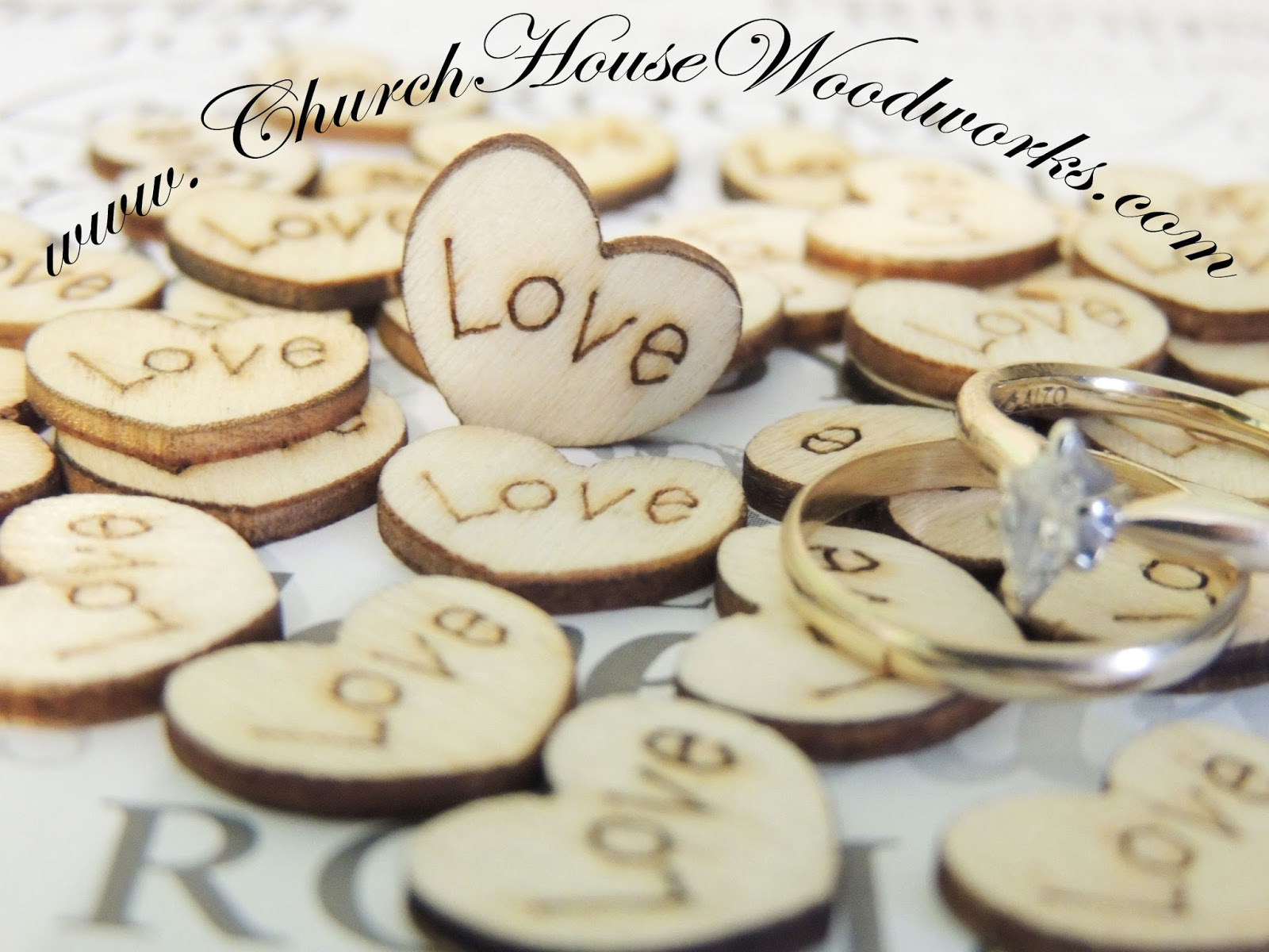 Rustic 4 Weddings: Wood Engraved Love Hearts Confetti For Rustic ...