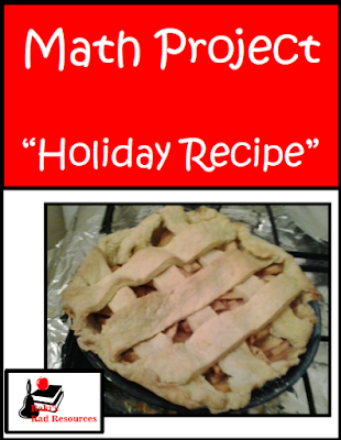 Free holiday recipe math project to work on measurement, budgeting and elapsed time. From Raki's Rad Resources.