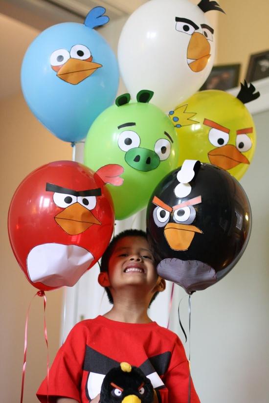 Decoración de Fiestas Infantiles de Angry Birds | Arcos con Globos ...