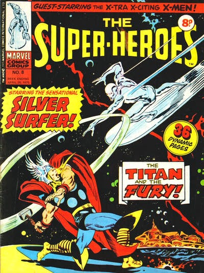 Marvel UK, The Super-Heroes #8, Thor vs Silver Surfer