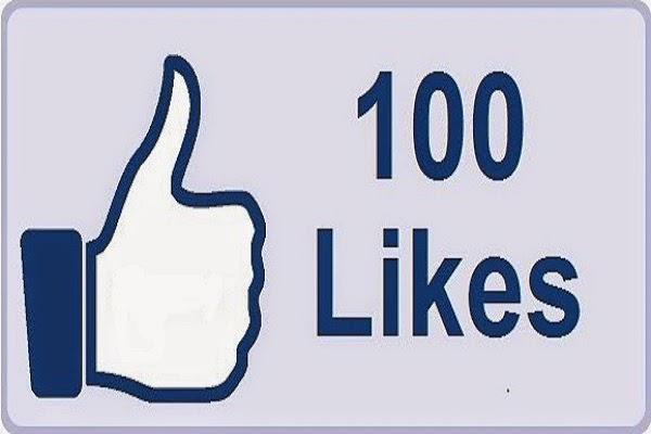 100 likes on facebook
