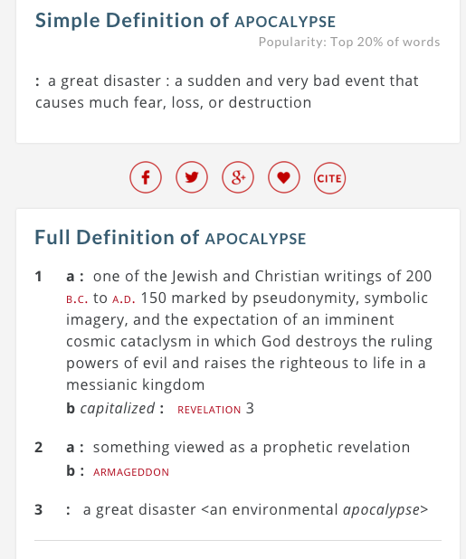 an analysis of the issues on apocalypticism The analytical method i want to use to analyze apocalyptic discourse is  to  offset those problems, paul has to elaborate certain fantasy themes in order that.