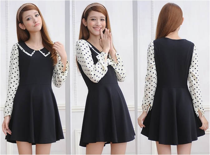 Polka Dot Black Dress RM38