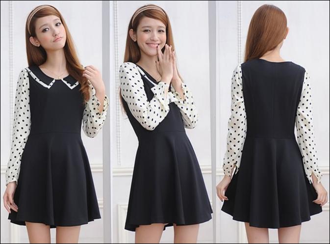 Polka Dot Black Dress RM38