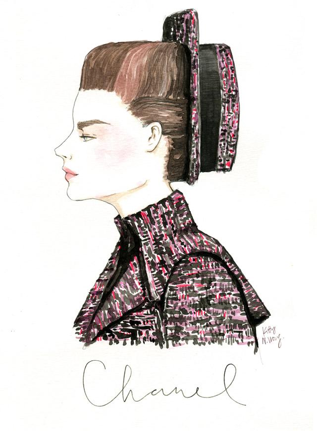 Chanel HC Fall 2013 illustration