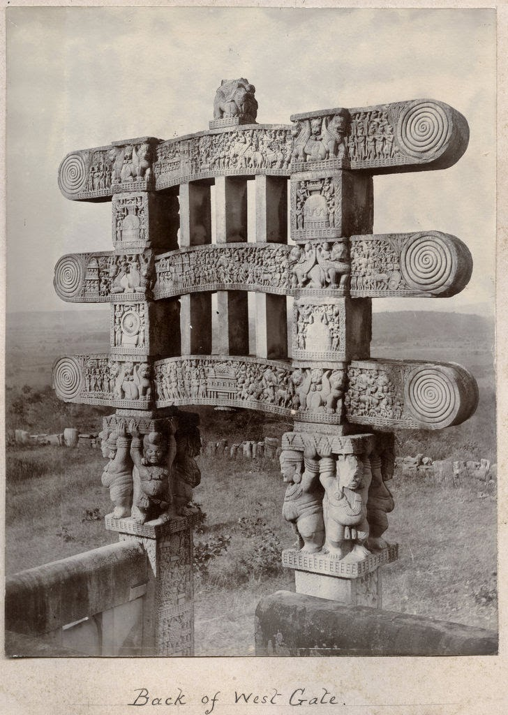Sanchi Stupa back of west gate
