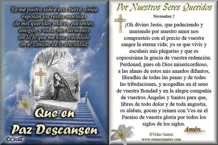 oraciones por los fieles difuntos