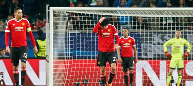 Down and out: United slumped to third place in their group