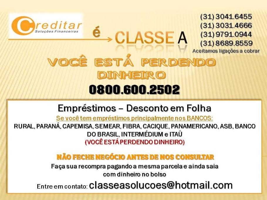 CLASSE A SOLUÇÕES FINANCEIRAS
