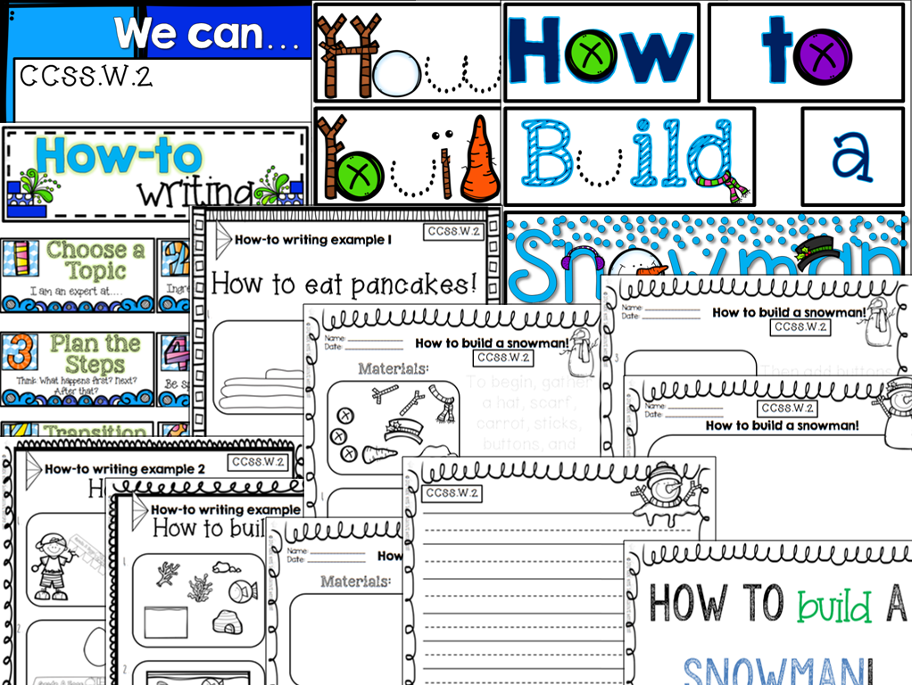 https://www.teacherspayteachers.com/Product/How-to-Build-a-Snowman-1016984