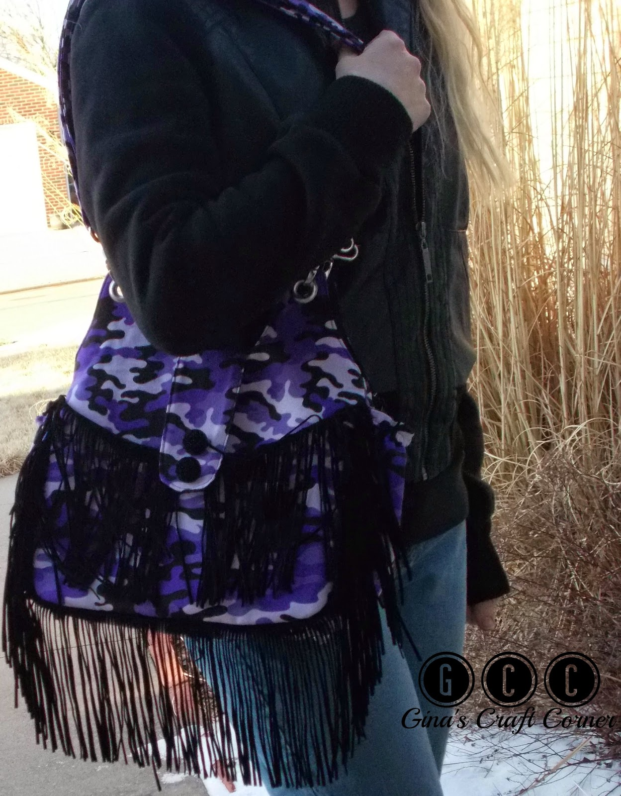 How to Add Fringe to any Purse Pattern by Ginas Craft Corner