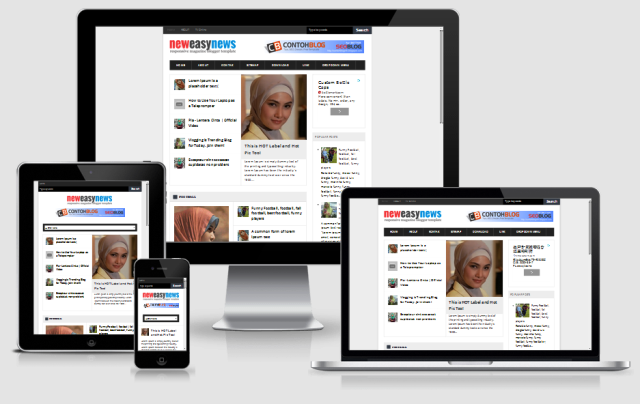 New Easy News - Responsive Magazine Blogger Template