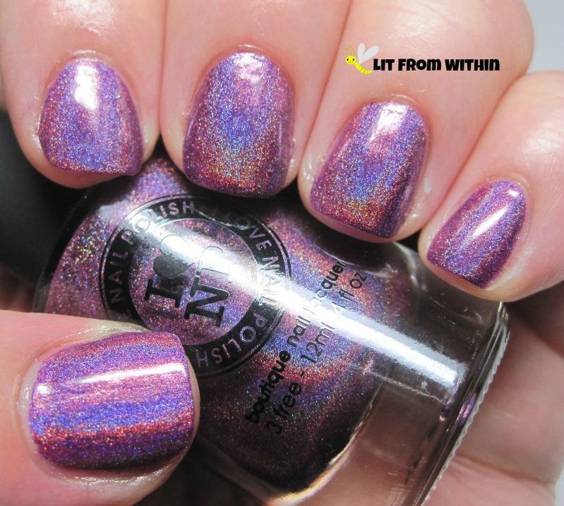 I Love Nail Polish Kings & Queens. Royal purple holo goodness