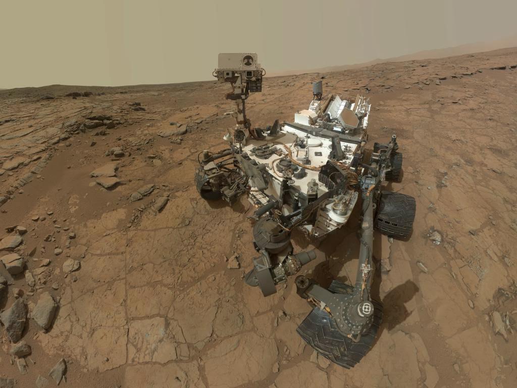 Autorretrato del rover Curiosity en Marte