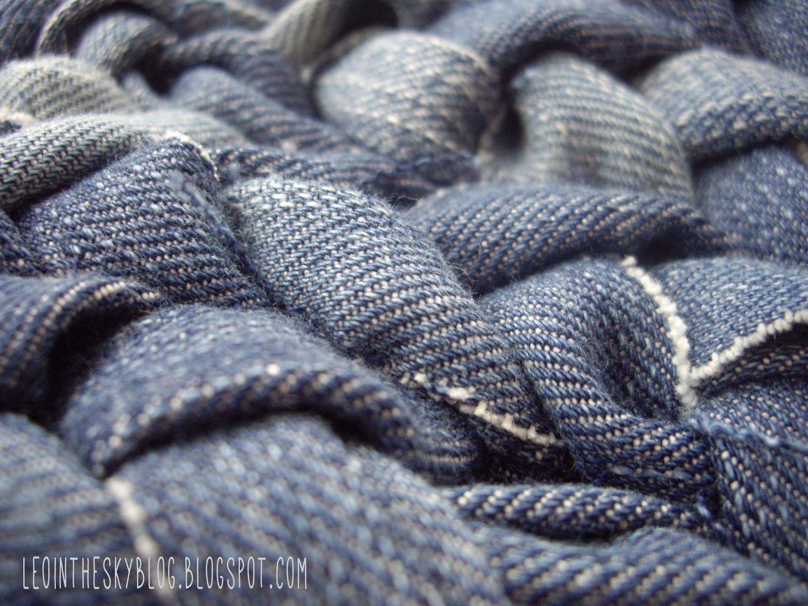 Leo in the sky c mo hacer una alfombra con vaqueros - Como hacer alfombras con trapillo ...