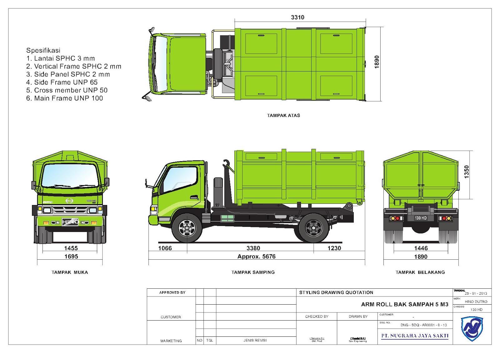 Truck Sampah ~ CV Rejeki Sukses Bersama | Industri ...