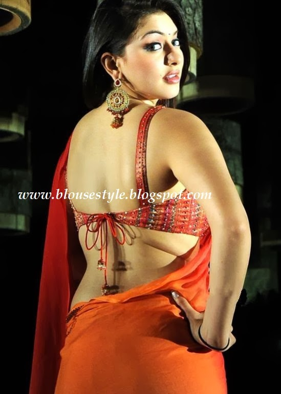 actress in Back less blouse