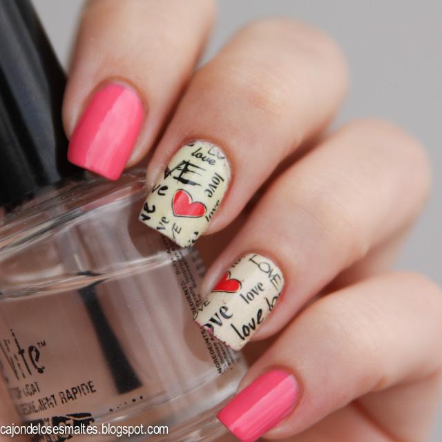 Decoración de uñas para San Valentin Paso a paso