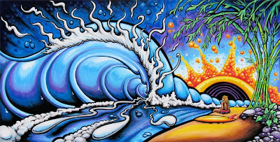 Drew Brophy surf lifestyle artist Dreamland painting