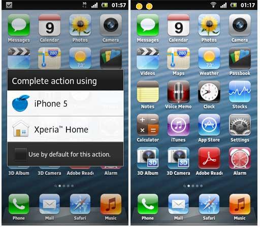 tips mudah merubah tampilan androdi seperti iphone, cara agar menu android sama seperti iphone apple
