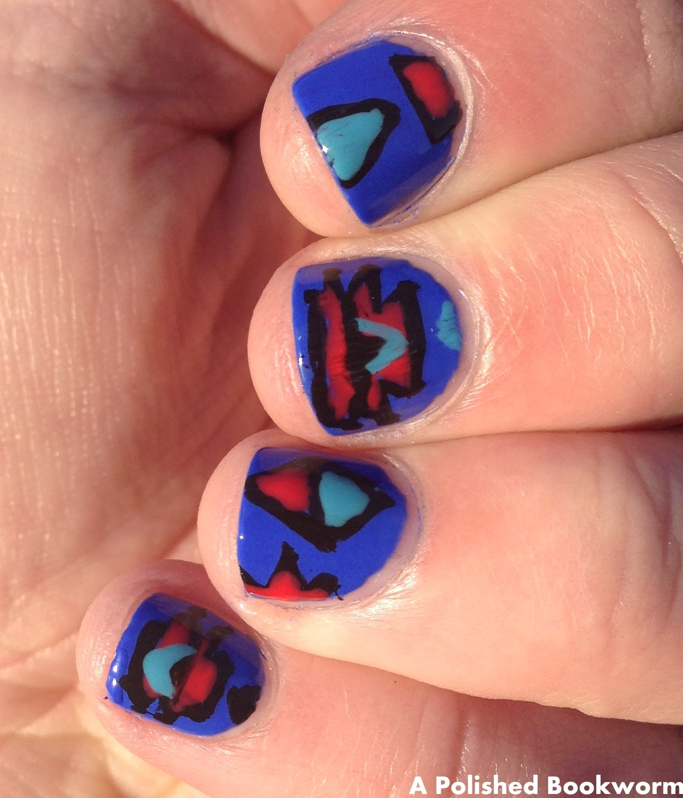 Tribal Shirt Inspired Nail Art Tutorial
