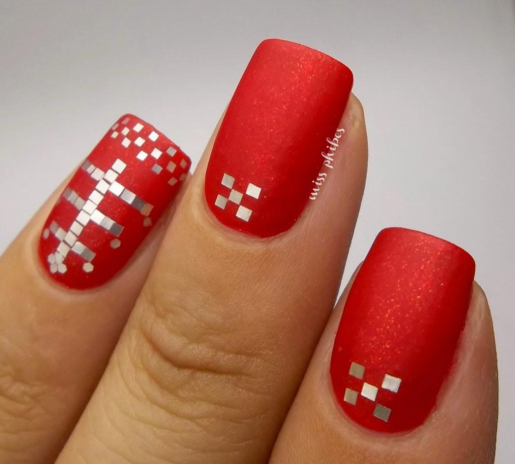 Christmas nail art Nail art de navidad