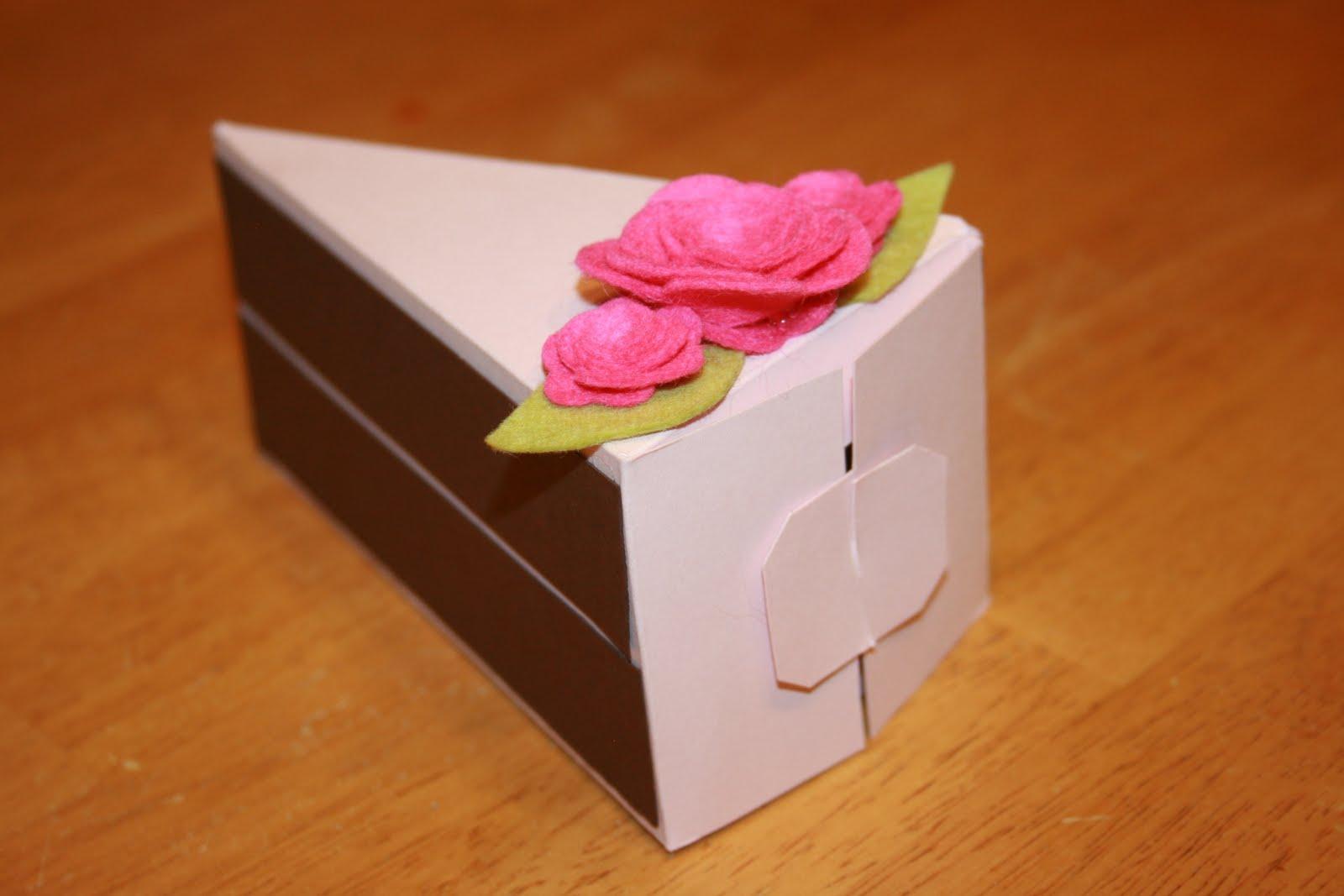 Cake Designs On Paper : Creative Smiles : Cake Slice Favor Box