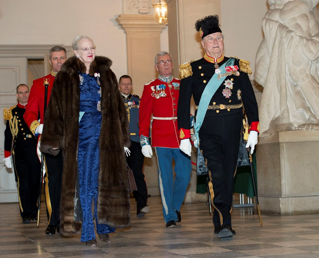 Queen Margrethe of Denmark, Prince Henrik of Denmark, Crown Prince Frederik of Denmark and Crown Princess Mary of Denmark