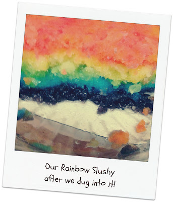 How to make a rainbow slush for a kids party Pinterest