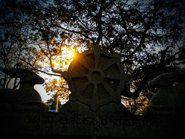 Sunset at Mahabodhi Society, Bangalore