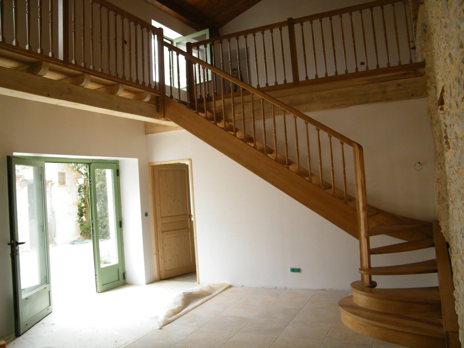 evolution bois escalier ch ne balustres bois. Black Bedroom Furniture Sets. Home Design Ideas