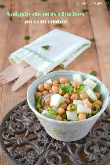 Salade de pois chiches au concombre