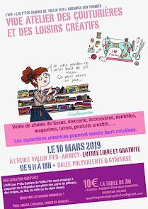 Puces couturières à Annecy le 10 mars