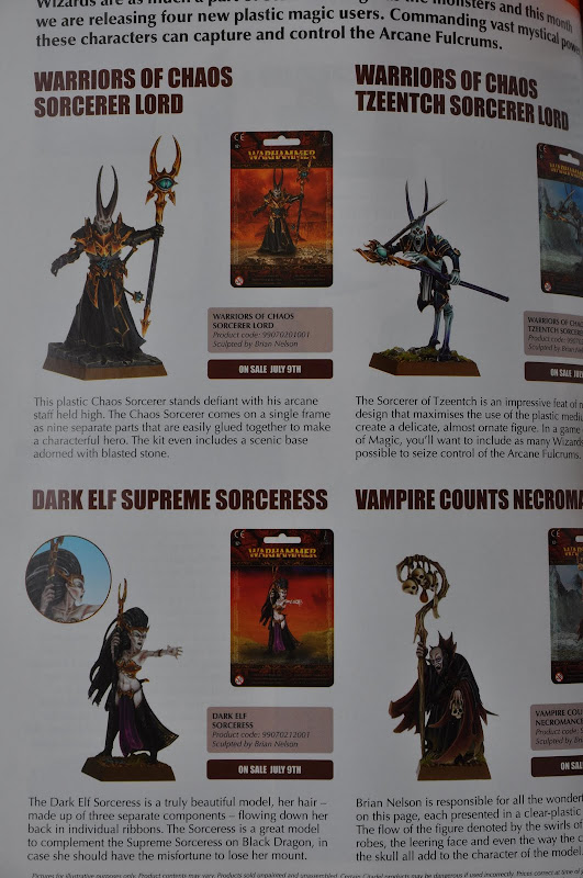 White Dwarf Magic caster miniature pictures