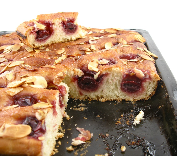 Life's a feast: CHERRY ALMOND FOCACCIA
