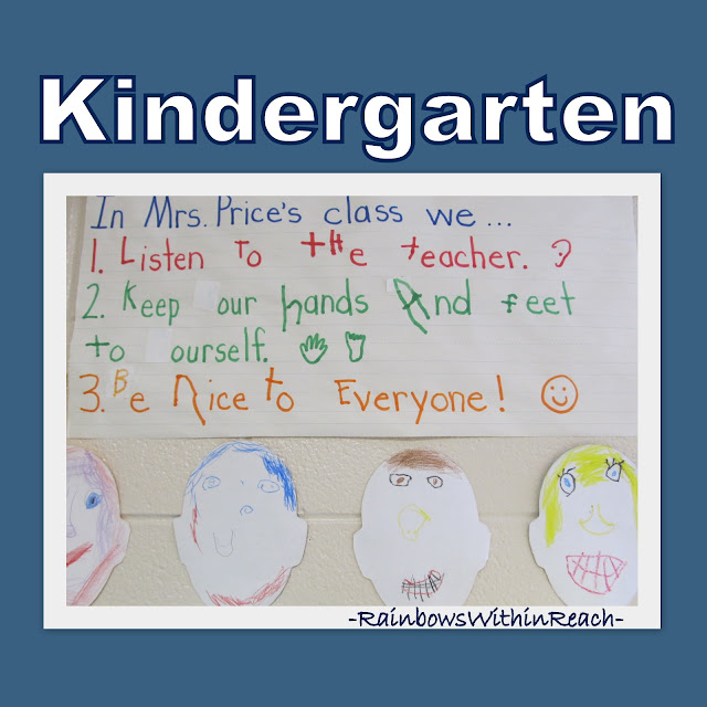 Kindergarten set of Classroom Rules
