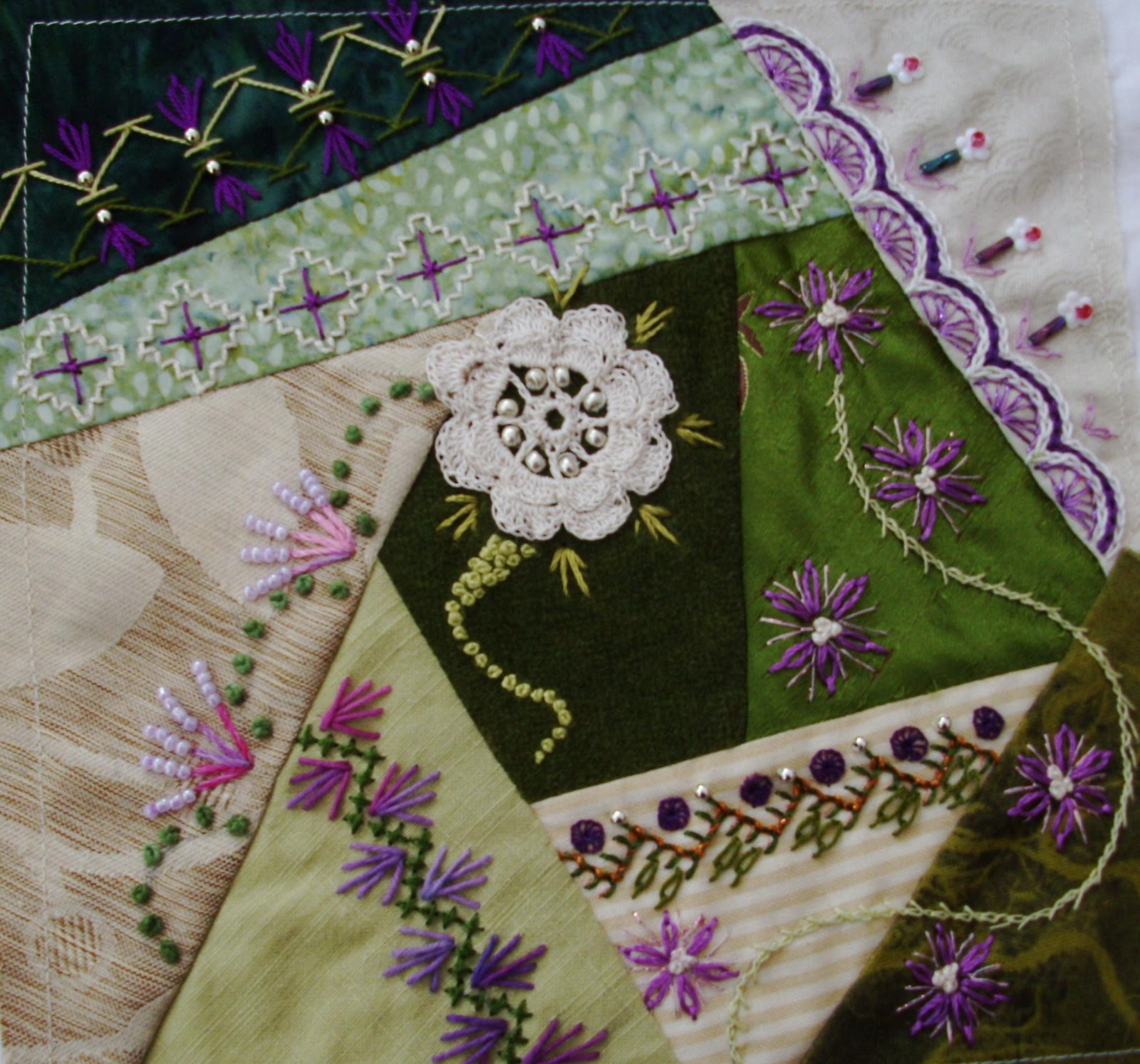 1000+ Images About Crazy Quilt Embroidery Stitches On Pinterest | Crazy Quilting Embroidery ...