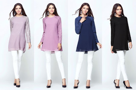 Trendy Dan Bergaya  Blouse Labuh Sesuai Digayakan Dalam Gaya Santai Atau Formal
