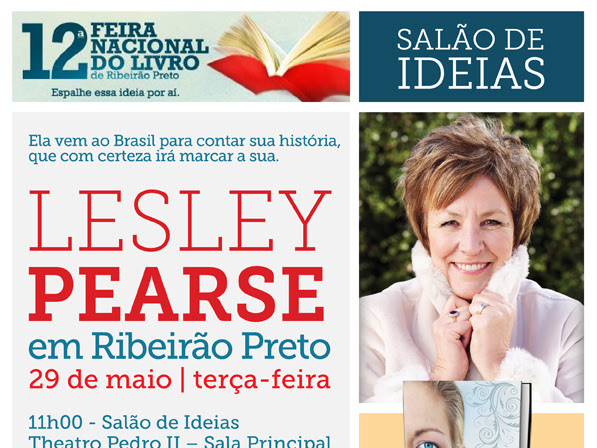 Novo Conceito traz ao Brasil a autora de Roubada, Lesley Pearse