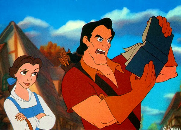 Gaston and Belle from Beauty and the Beast