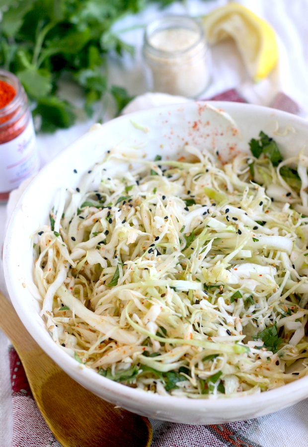Asian-style Cabbage-Fennel Coleslaw recipe by SeasonWithSpice.com
