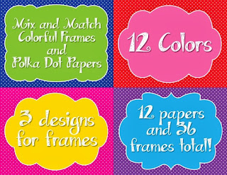 http://www.teacherspayteachers.com/Product/Mix-and-Match-Colorful-Frames-and-Coordinating-Polka-Dot-Papers-740685