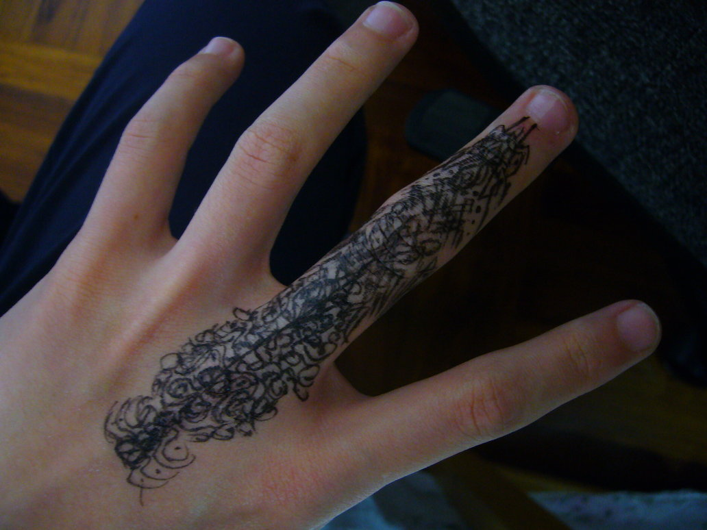 Inside Finger Tattoos Tumblr