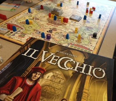 Il Vecchio board game in play